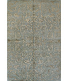 RugStudio presents Rugstudio Sample Sale 60254R Light Blue Hand-Knotted, Good Quality Area Rug