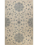 RugStudio presents Bashian Venezia Sweta Ivory / Blue Hand-Tufted, Good Quality Area Rug