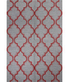 RugStudio presents Bashian Rajapur R121-Cal918 Grey - Red Hand-Hooked Area Rug