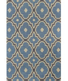 RugStudio presents Bashian Rajapur R121-Cal922 Light Blue Hand-Hooked Area Rug