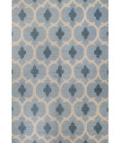 RugStudio presents Bashian Rajapur R121-Cal924 Light Blue Hand-Hooked Area Rug