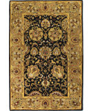 RugStudio presents Bashian Wilshire R128-Hg117 Black Hand-Tufted, Better Quality Area Rug
