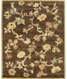 RugStudio presents Bashian Wilshire Hg113 Chocolate Hand-Tufted, Better Quality Area Rug