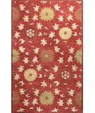 RugStudio presents Bashian Wilshire Hg120 Red Hand-Tufted, Better Quality Area Rug
