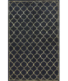 RugStudio presents Bashian Greenwich Lattice Black Hand-Tufted, Good Quality Area Rug