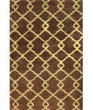 RugStudio presents Bashian Greenwich Modern Lozenge Chocolate Hand-Tufted, Good Quality Area Rug