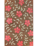 RugStudio presents Bashian Greenwich La Fleur Chocolate Hand-Tufted, Good Quality Area Rug