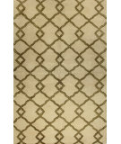 RugStudio presents Bashian Greenwich Modern Lozenge Ivory Hand-Tufted, Good Quality Area Rug