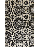 RugStudio presents Bashian Greenwich Starburst Ivory / Black Hand-Tufted, Good Quality Area Rug