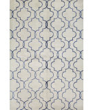 RugStudio presents Bashian Greenwich R129-Hg266 Ivory - Blue Hand-Tufted, Better Quality Area Rug