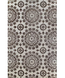 RugStudio presents Bashian Greenwich Starburst Ivory / Chocolate Hand-Tufted, Good Quality Area Rug
