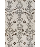 RugStudio presents Bashian Greenwich Cosmic Dance Ivory / Grey Hand-Tufted, Good Quality Area Rug