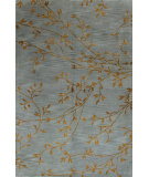 RugStudio presents Bashian Greenwich Hg240 Light Blue Hand-Tufted, Better Quality Area Rug