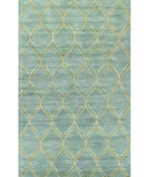 RugStudio presents Bashian Greenwich R129-Hg304 Light Blue Hand-Tufted, Better Quality Area Rug