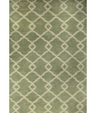 RugStudio presents Bashian Greenwich R129-Hg265 Light Green Hand-Tufted, Better Quality Area Rug