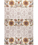 RugStudio presents Bashian Verona Floral Sediments Ivory Hand-Tufted, Good Quality Area Rug