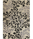 RugStudio presents Bashian Verona R130-Lc115 Ivory - Black Hand-Tufted, Better Quality Area Rug