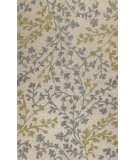 RugStudio presents Bashian Verona R130-Lc115 Ivory - Blue Hand-Tufted, Better Quality Area Rug