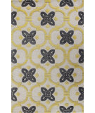 RugStudio presents Bashian Verona R130-Lc133 Ivory - Gold Hand-Tufted, Better Quality Area Rug