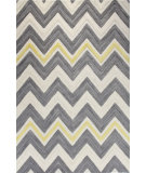RugStudio presents Bashian Verona R130-Lc135 Ivory - Grey Hand-Tufted, Better Quality Area Rug