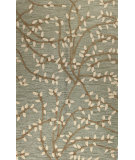 RugStudio presents Bashian Verona Lc107 Light Green Hand-Tufted, Better Quality Area Rug