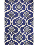 RugStudio presents Bashian Verona R130-Lc133 Navy Hand-Tufted, Better Quality Area Rug