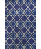 RugStudio presents Bashian Verona R130-Lc151 Navy Hand-Tufted, Better Quality Area Rug