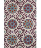 RugStudio presents Bashian Valencia R131-Bal142 Ivory - Lilac Hand-Tufted, Better Quality Area Rug