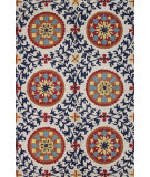 RugStudio presents Bashian Valencia R131-Bal142 Ivory - Navy Hand-Tufted, Better Quality Area Rug