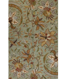 RugStudio presents Bashian Valencia Al101 Light Green Hand-Tufted, Better Quality Area Rug