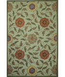 RugStudio presents Bashian Valencia R131-Bal138 Light Green Hand-Tufted, Better Quality Area Rug