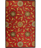 RugStudio presents Bashian Valencia Garden Red Hand-Tufted, Good Quality Area Rug
