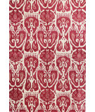 RugStudio presents Bashian Chelsea S185-St252 Ivory - Red Hand-Tufted, Better Quality Area Rug