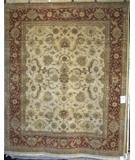 RugStudio presents Rugstudio Famous Maker 39379 Beige-Rust Hand-Knotted, Best Quality Area Rug