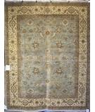 RugStudio presents Rugstudio Famous Maker 39381 Light Blue-Ivory Hand-Knotted, Best Quality Area Rug