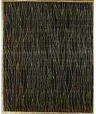 RugStudio presents Rugstudio Famous Maker 39357 Black Hand-Knotted, Best Quality Area Rug