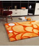 RugStudio presents Bowron Baroque 01 Mango Hand-Tufted, Best Quality Area Rug