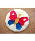 RugStudio presents Bowron Fun Rugs Butterfly Hand-Tufted, Good Quality Area Rug