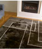 RugStudio presents Bowron Geometric Corners Java-Birch Hand-Tufted, Best Quality Area Rug