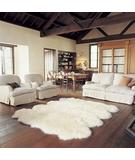 RugStudio presents Bowron Longwool Gold Star Octo Ivory Hand-Tufted, Good Quality Area Rug