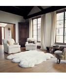 RugStudio presents Bowron Longwool Gold Star Sexto Ivory Hand-Tufted, Good Quality Area Rug