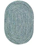 RugStudio presents Capel Sea Pottery 43990 Blue Braided Area Rug