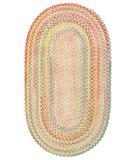 RugStudio presents Capel Baby's Breath 43555 Light Yellow Braided Area Rug