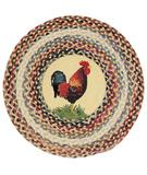 RugStudio presents Capel Clarendon 43640 Roosters Hand-Hooked Area Rug