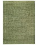 RugStudio presents Capel Tonal Trace 44064 Green Jade Hand-Knotted, Good Quality Area Rug