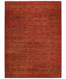 RugStudio presents Capel Tonal Trace 44065 Red Hand-Knotted, Good Quality Area Rug