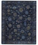 RugStudio presents Capel Dexter 43674 Blue Ocean Hand-Knotted, Good Quality Area Rug