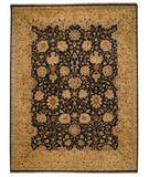 RugStudio presents Capel Boca Park-Mahal 43611 Onxy/Gold Hand-Knotted, Best Quality Area Rug