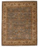 RugStudio presents Capel Boca Park-Mahal 43612 Medium Blue/Beige Hand-Knotted, Best Quality Area Rug