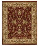 RugStudio presents Capel Boca Park-Mahal 43613 Red Berry/Cream Hand-Knotted, Best Quality Area Rug